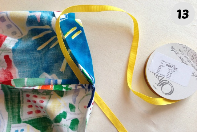 easy to make drawstring Bag 13