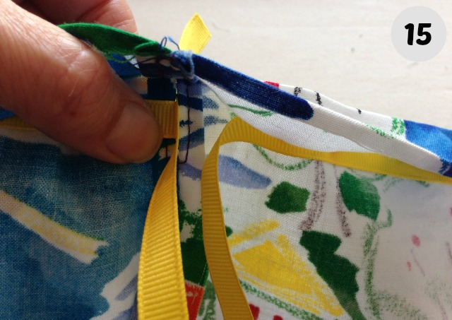 easy to make drawstring Bag 15