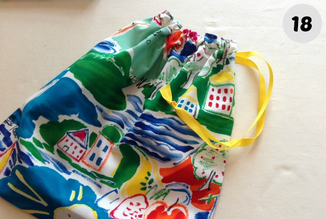 easy to make drawstring Bag 18