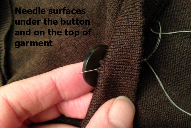 how to sew a button 10