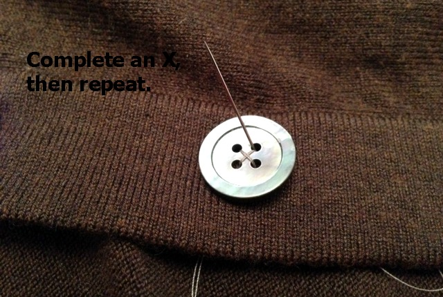 how to sew a button 9
