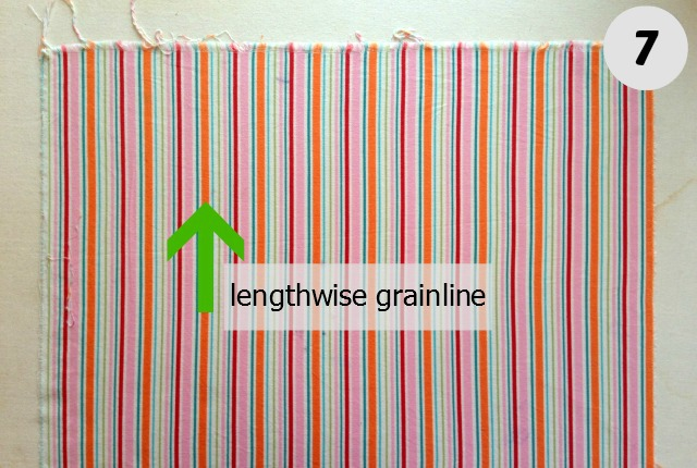 Fabric grainline