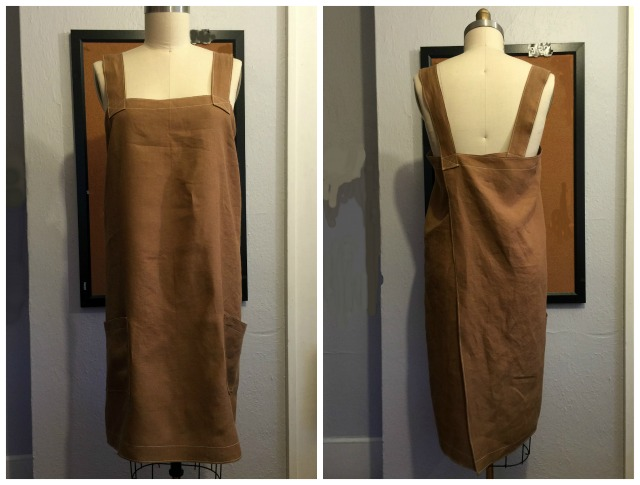 Apron3 Smock style linen