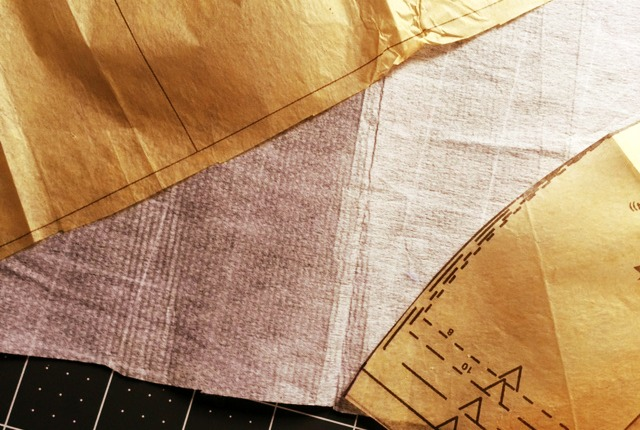 backing pattern with interfacing
