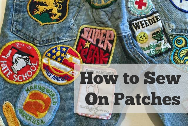How to Sew On Patches – The Daily Sew