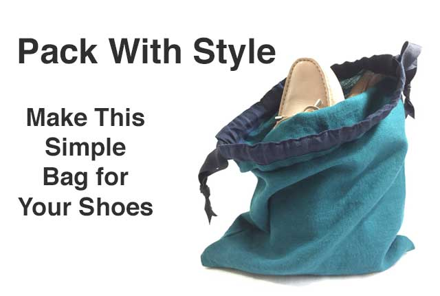 Travel In Style Sew An Easy Shoe Bag The Daily
