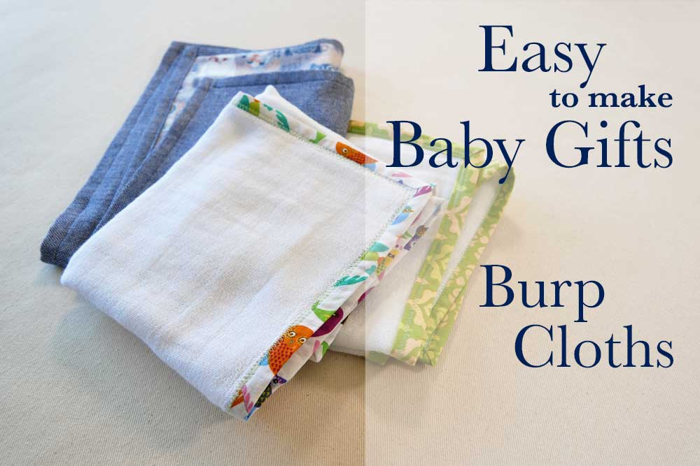 Homemade baby burp bib 3 layers seams are double stitched soft and absorbent 2 flannel and terry cloth floral print on beige.
